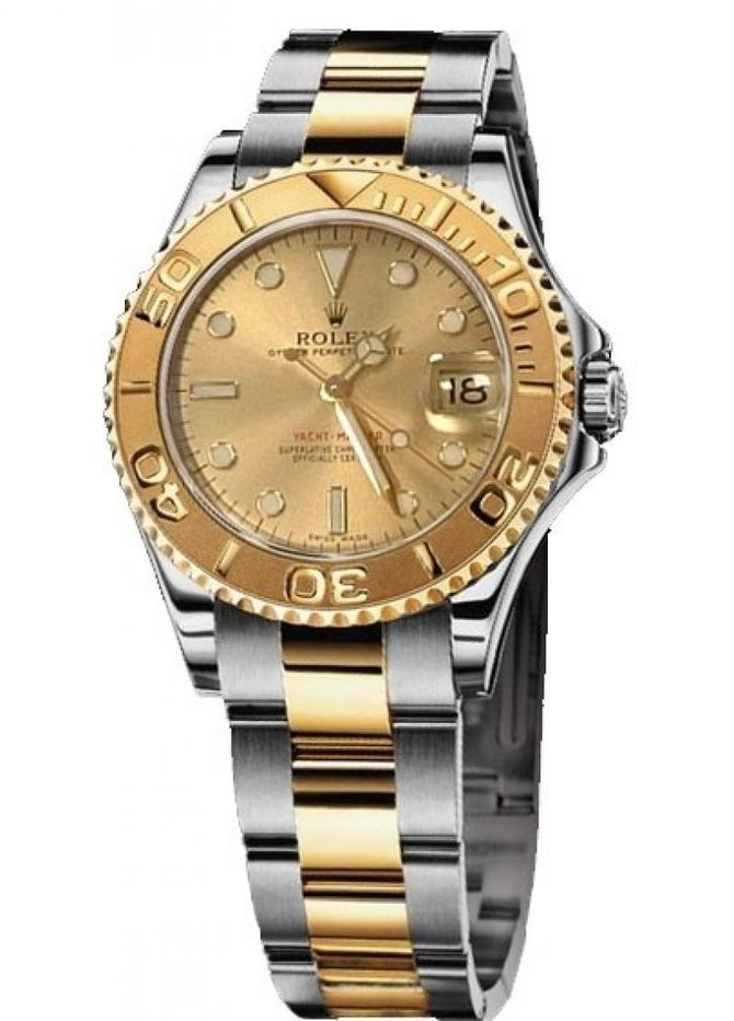Rolex 168623 Champagne Yacht Master II Yacht-Master 35mm Steel and Yellow Gold - фото 3
