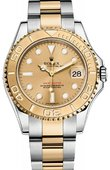 Rolex Yacht Master II 168623 Champagne Yacht-Master 35mm Steel and Yellow Gold