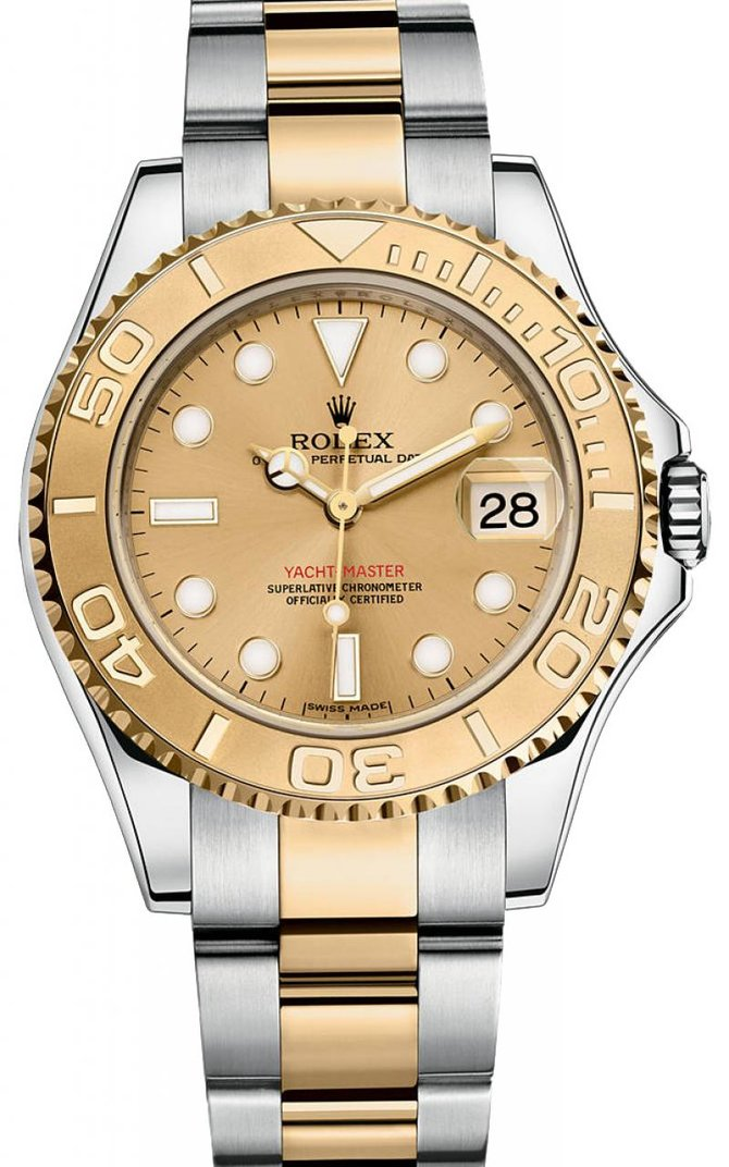 Rolex 168623 Champagne Yacht Master II Yacht-Master 35mm Steel and Yellow Gold - фото 1
