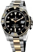Rolex Submariner 116613 black dial 8 diamond Date Steel and Yellow Gold Ceramic