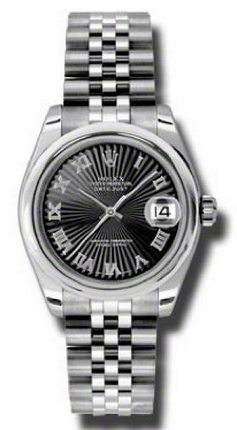 178240 bksbrj Rolex Steel Datejust Ladies