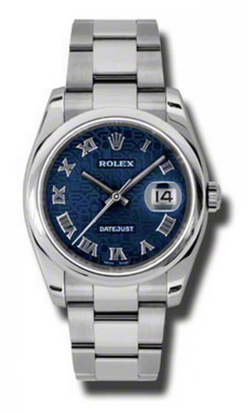 116200 bljro Rolex Steel Datejust