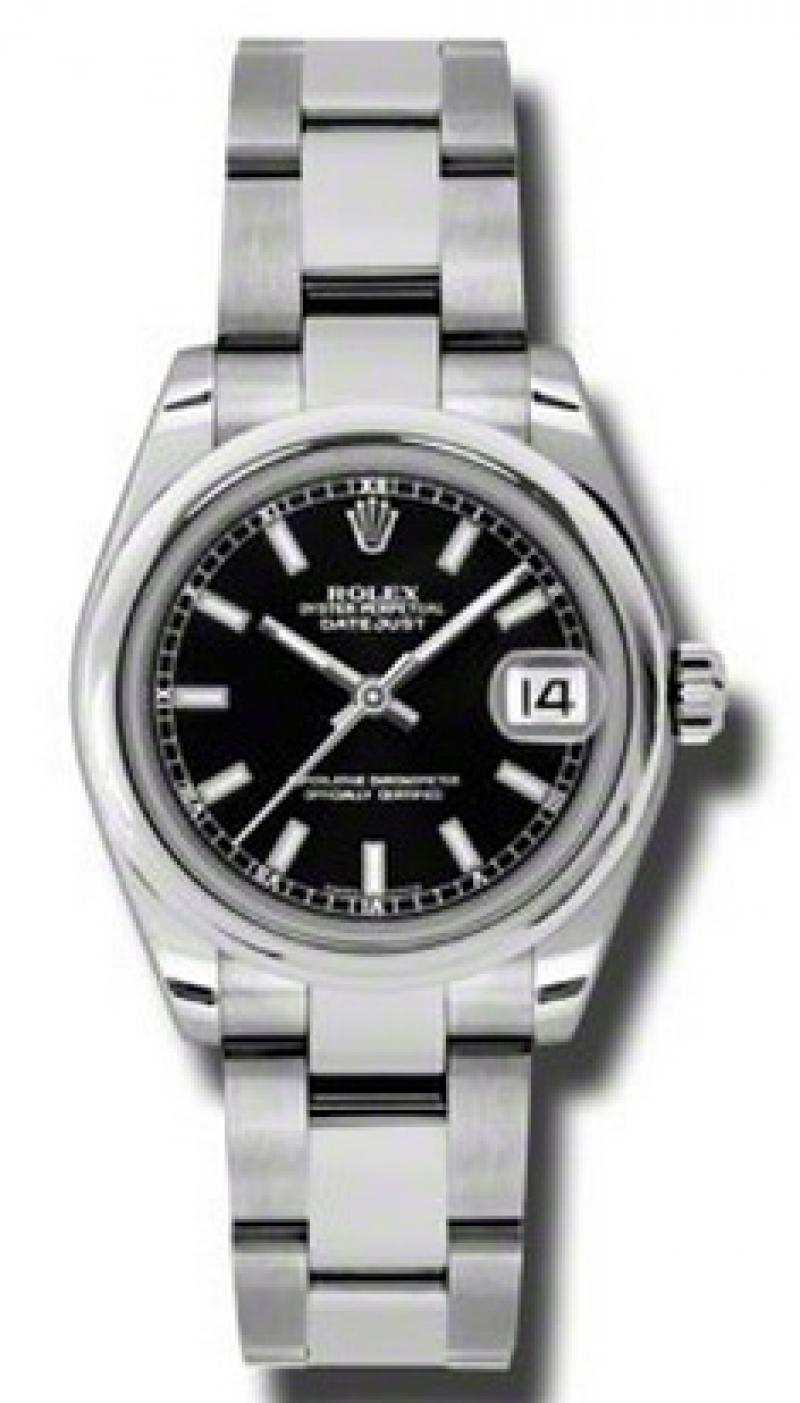 178240 bkso Rolex Steel Datejust Ladies