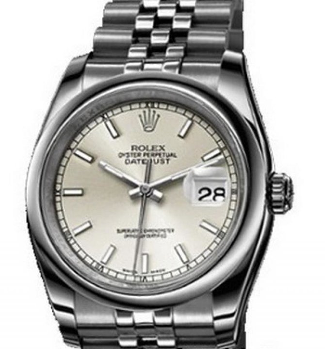 Rolex 116200 silver Datejust Steel - фото 1