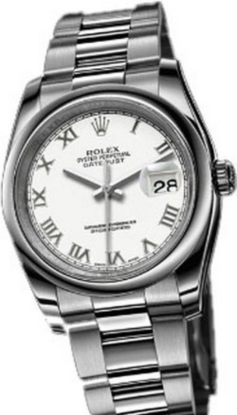 116200 white Rolex Steel Datejust