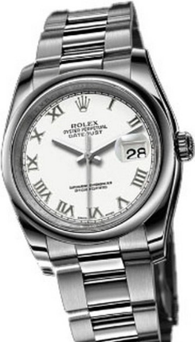 Rolex 116200 white Datejust Steel - фото 1