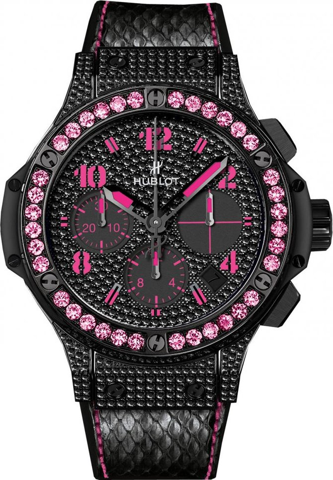 Hublot 341.SV.9090.PR.0933 Big Bang 41mm Ladies Black Fluo Pink Limited Edition 250 - фото 1