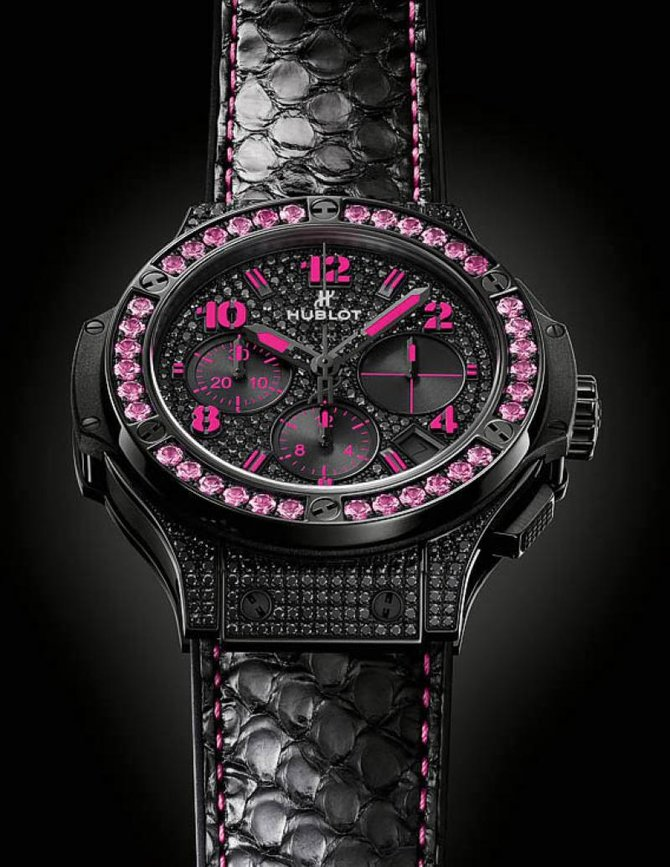Hublot 341.SV.9090.PR.0933 Big Bang 41mm Ladies Black Fluo Pink Limited Edition 250 - фото 2