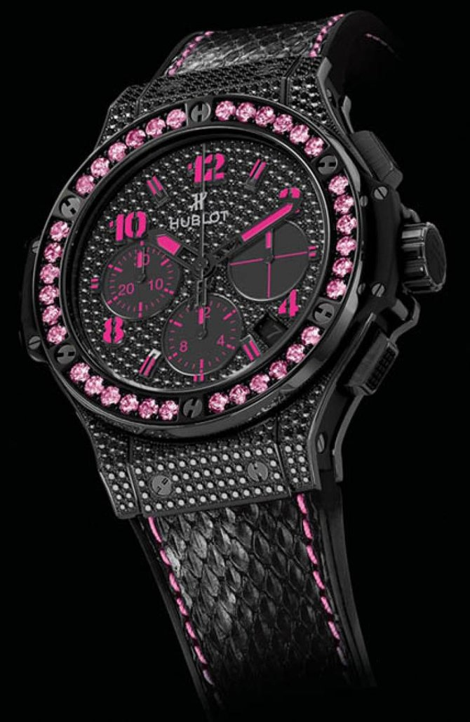 Hublot 341.SV.9090.PR.0933 Big Bang 41mm Ladies Black Fluo Pink Limited Edition 250 - фото 3