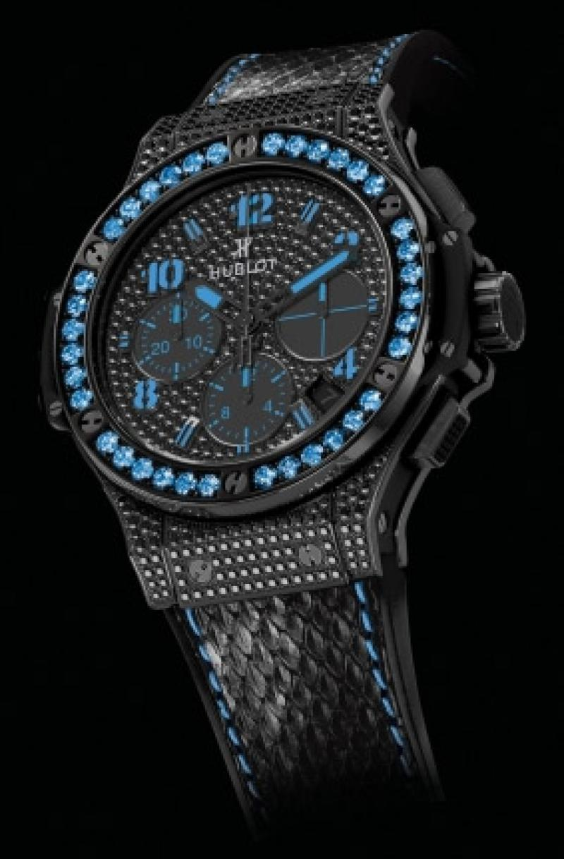 341.SV.9090.PR.0901 Hublot Black Fluo Blue Limited Edition 250 Big Bang 41mm Ladies