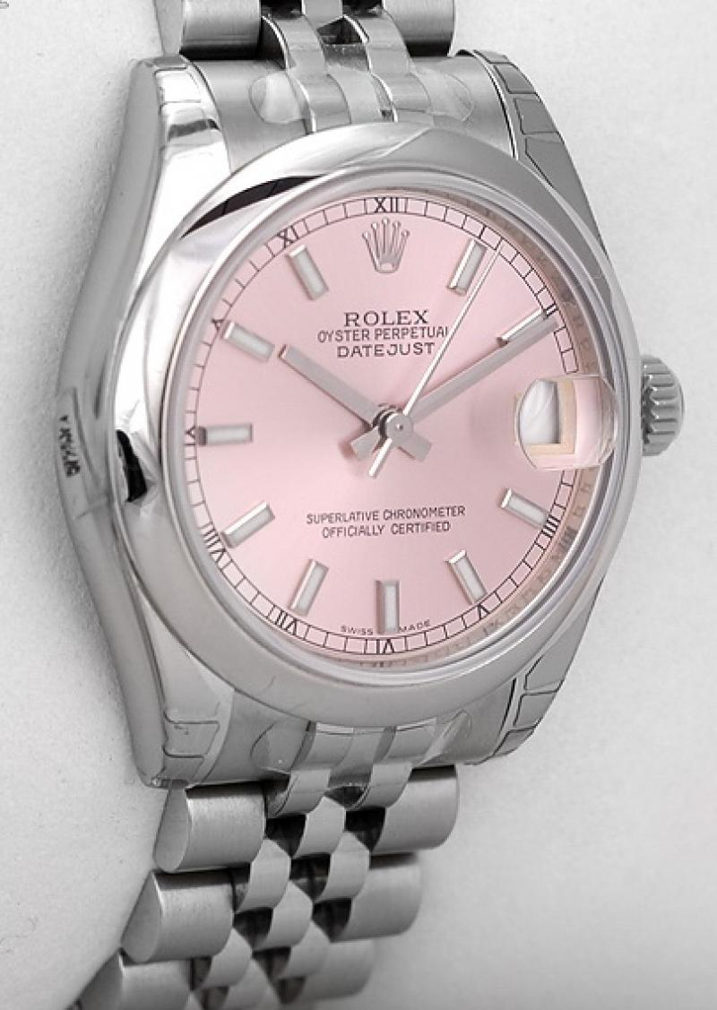 178240 pink Rolex Steel Datejust Ladies