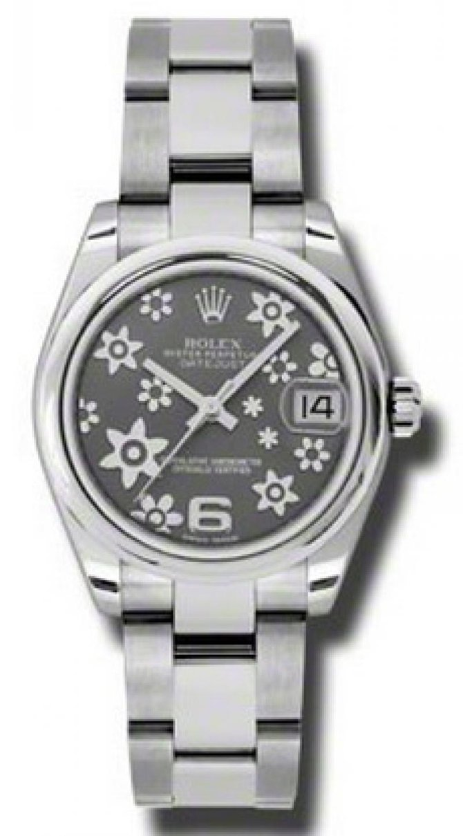 Rolex 178240 silver floral Datejust Ladies Steel - фото 1