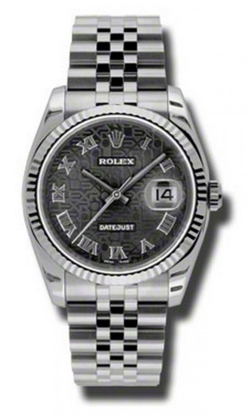 116234 bkjrj Rolex Steel Datejust