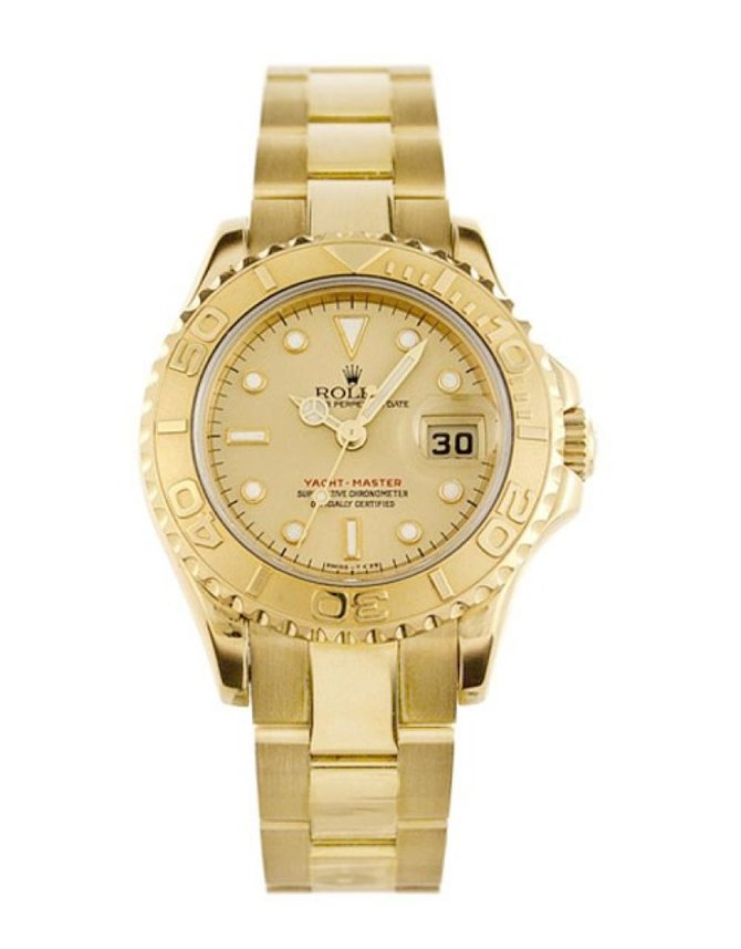 Rolex 169628 Champagne Yacht Master II Yacht-Master 29mm Yellow Gold - фото 1