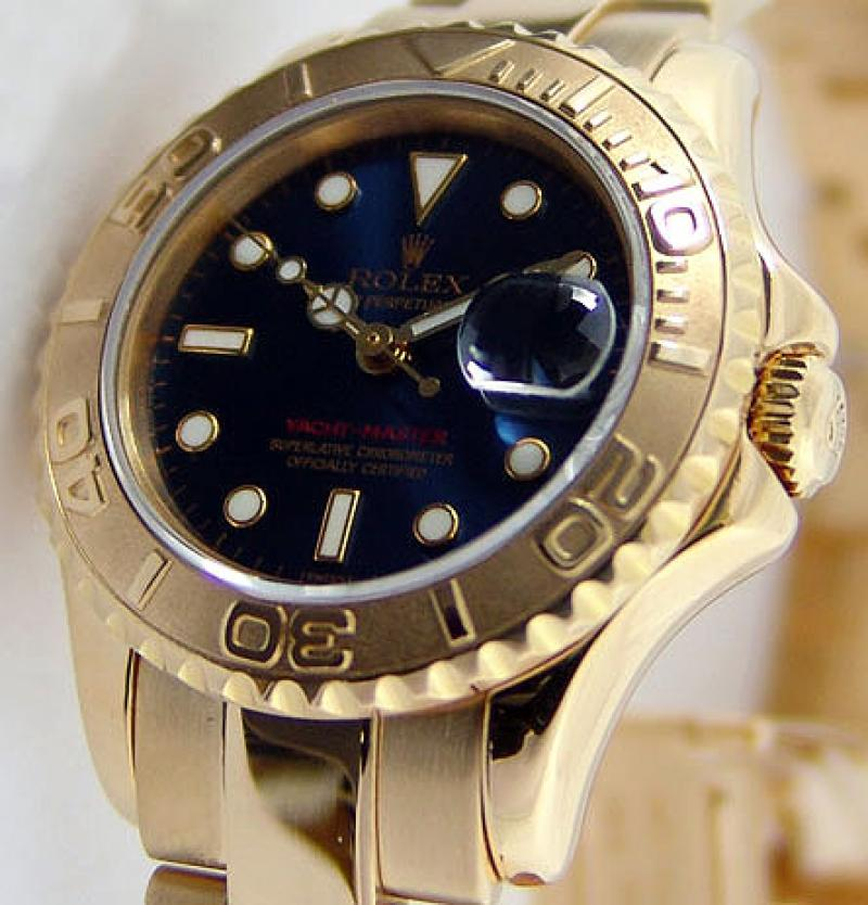 169628 Blue Rolex Yacht-Master 29mm Yellow Gold Yacht Master II