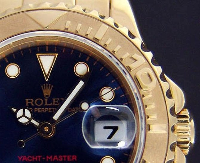 Rolex 169628 Blue Yacht Master II Yacht-Master 29mm Yellow Gold - фото 2