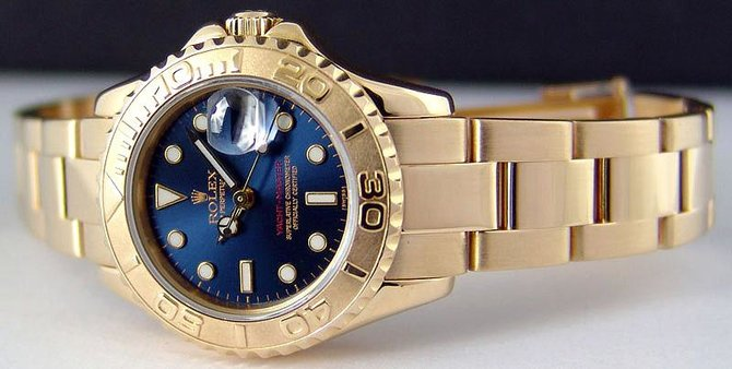 Rolex 169628 Blue Yacht Master II Yacht-Master 29mm Yellow Gold - фото 5