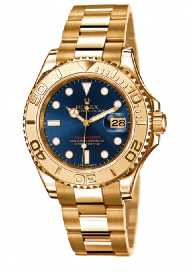 Rolex 169628 Blue Yacht Master II Yacht-Master 29mm Yellow Gold - фото 1
