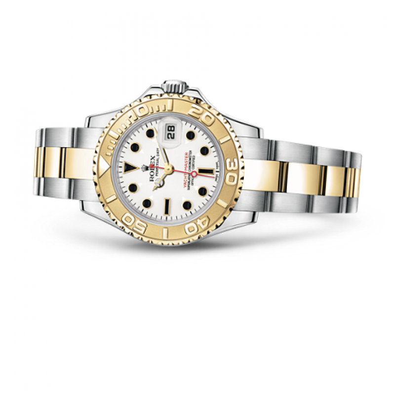 169623-White Rolex Yacht-Master 29mm Steel and Yellow Gold Yacht Master II