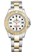 Rolex Yacht Master II 169623-White Yacht-Master 29mm Steel and Yellow Gold