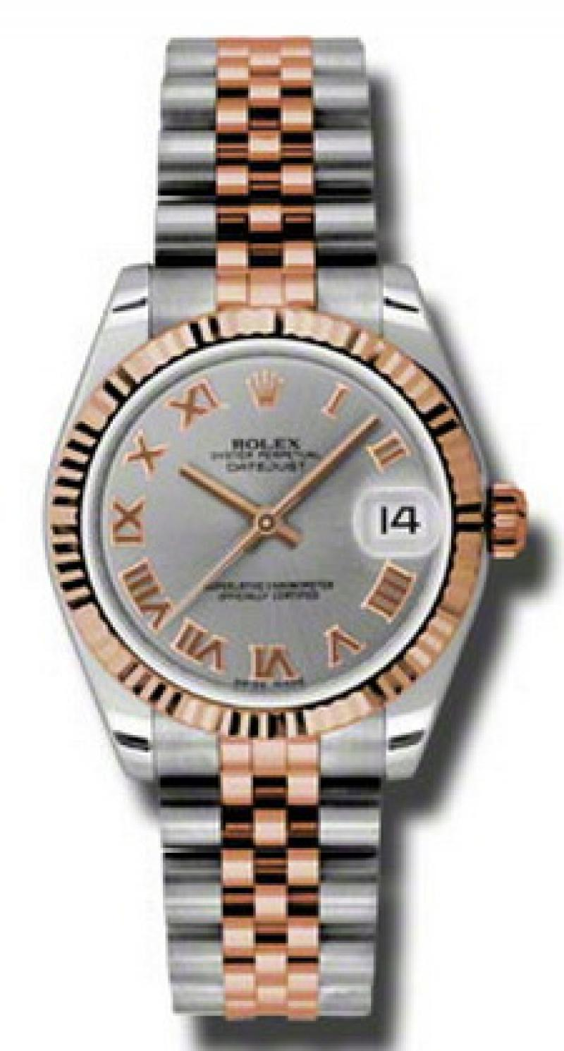 178271 grj Rolex Steel and Everose Gold Datejust Ladies