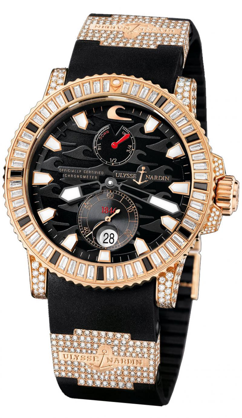 266-31LE-3F Ulysse Nardin Rose Gold Diamonds Limited Edition 100 Maxi Marine Diver