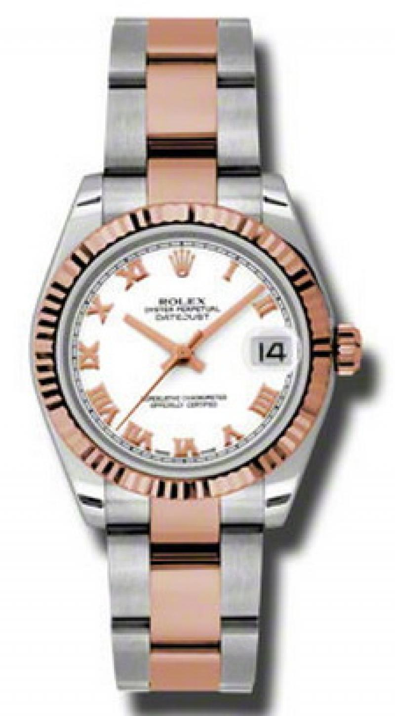 178271 wro Rolex Steel and Everose Gold Datejust Ladies