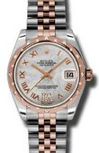 Rolex Datejust Ladies 178341 mdrj Steel and Everose Gold