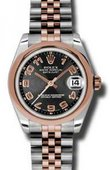 Rolex Datejust Ladies 178241 bkcaj Steel and Everose Gold