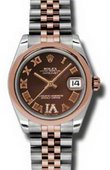 Rolex Datejust Ladies 178241 chdrj Steel and Everose Gold