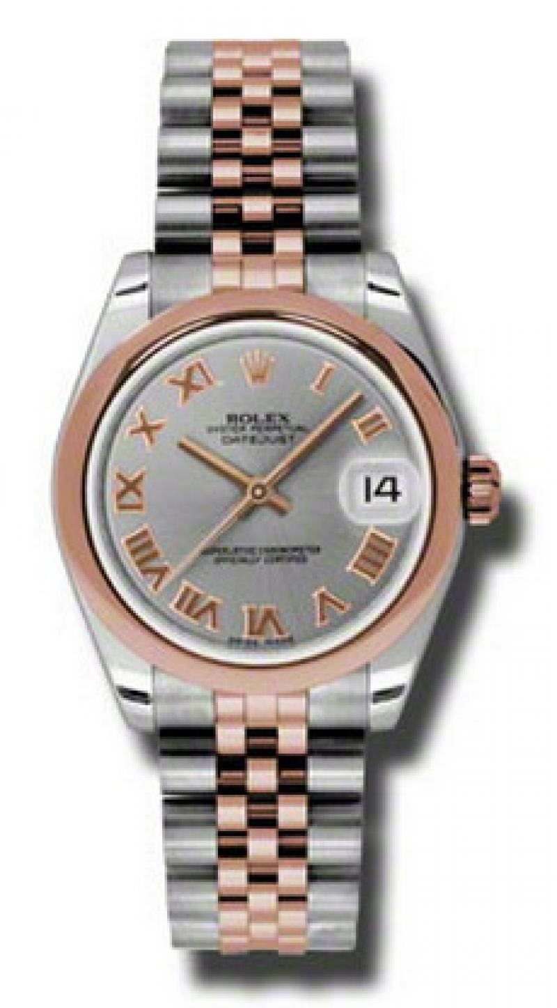 178241 grj Rolex Steel and Everose Gold Datejust Ladies
