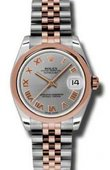 Rolex Datejust Ladies 178241 grj Steel and Everose Gold