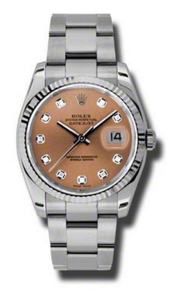 116234 pdo Rolex Steel Datejust
