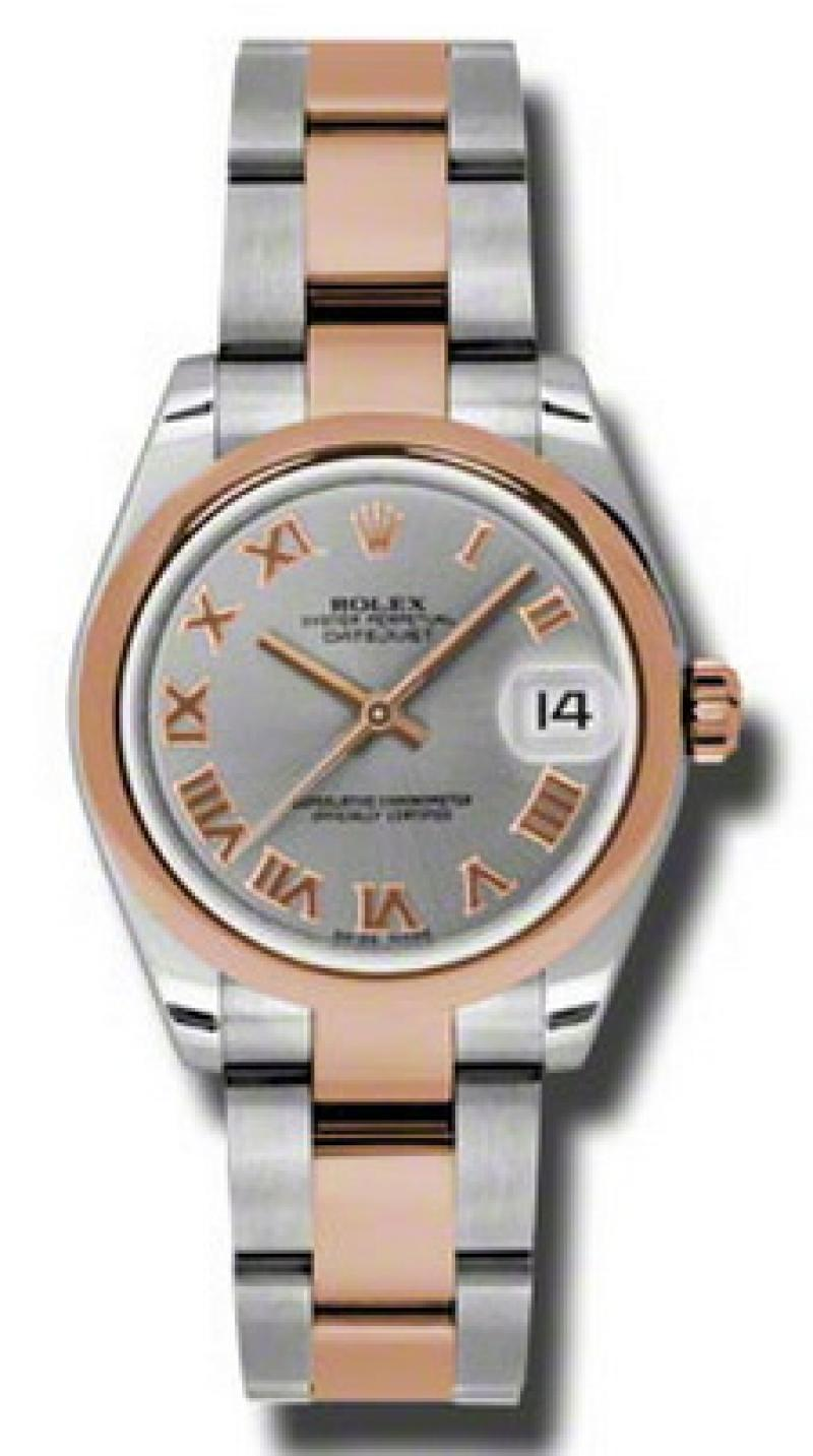 178241 gro Rolex Steel and Everose Gold Datejust Ladies