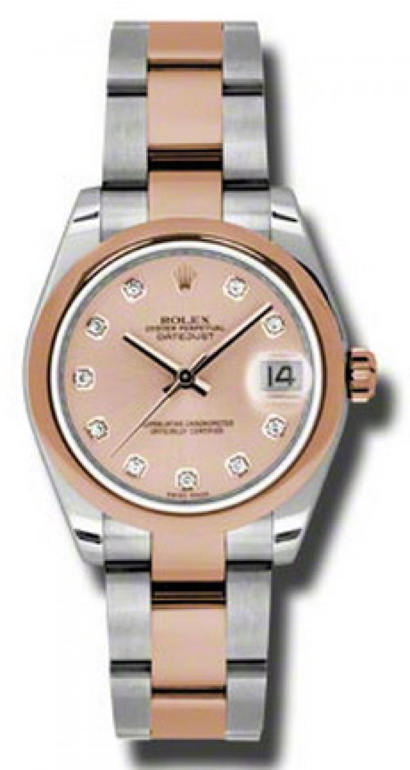 178241 pchdo Rolex Steel and Everose Gold Datejust Ladies