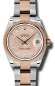 Rolex Datejust Ladies 178241 pchdo Steel and Everose Gold