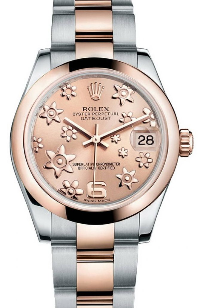 Rolex 178241 pink floral Datejust Ladies Steel and Everose Gold - фото 1