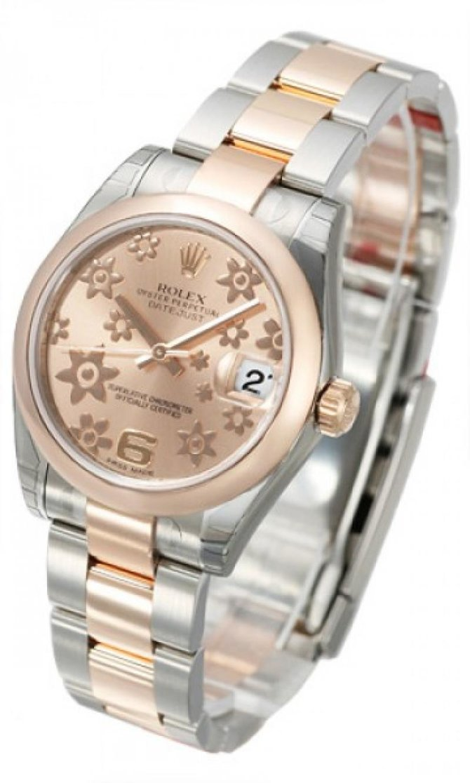 Rolex 178241 pink floral Datejust Ladies Steel and Everose Gold - фото 2