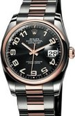 Rolex Datejust 116201 black Steel and Everose Gold