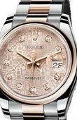 Rolex Datejust 116201 pink diamonds Steel and Everose Gold