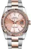 Rolex Datejust 116231 pink Steel and Everose Gold