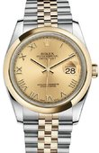 Rolex Datejust 116203 chrj Steel and Yellow Gold