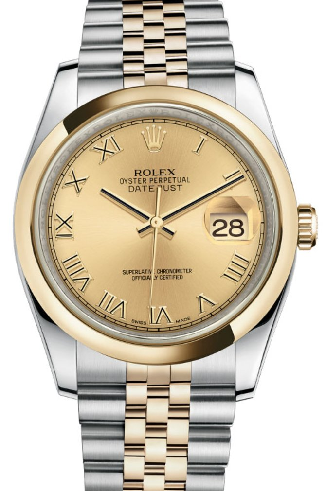 Rolex 116203 chrj Datejust Steel and Yellow Gold