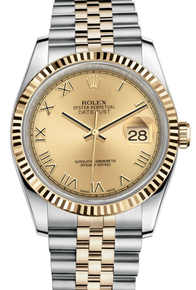 Rolex 116233 chrj Datejust Steel and Yellow Gold