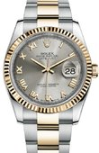 Rolex Datejust 116233 gro Steel and Yellow Gold