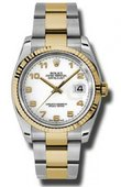 Rolex Datejust 116233 wao Steel and Yellow Gold