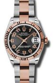 Rolex Datejust Ladies 178271 bkcao Steel and Everose Gold