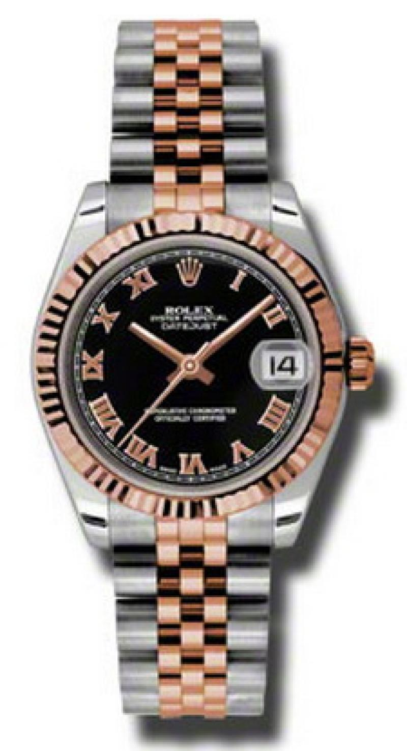 178271 bkrj Rolex Steel and Everose Gold Datejust Ladies