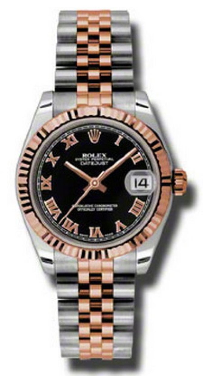 Rolex 178271 bkrj Datejust Ladies Steel and Everose Gold - фото 1