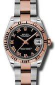 Rolex Datejust Ladies 178271 bkro Steel and Everose Gold